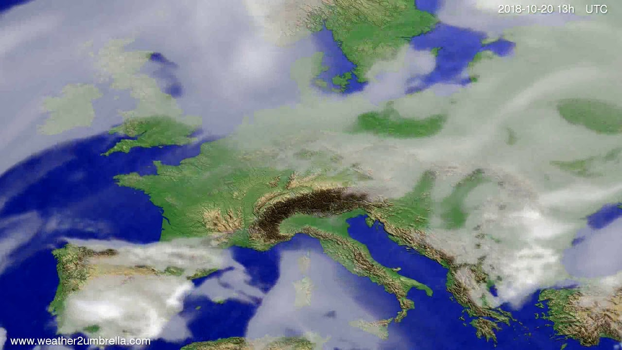 Cloud forecast Europe 2018-10-17