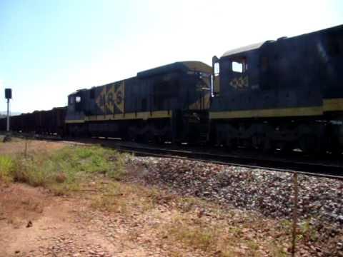 Trem da MRS chegando no posto P1-7 em Jeceaba-MG