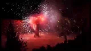 Вогняне та піротехнічне шоу на Новий рік