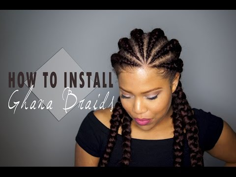 how to do weave : How to install Ghana Cornrows / Invisible Cornrows on Natural Hair