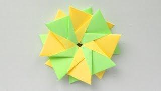 Цветок из бумаги Оригами поделка для детей