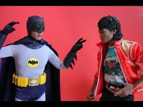 Batman VS Michael Jackson ( Stop Motion ) (Hot Toys ) *HD*