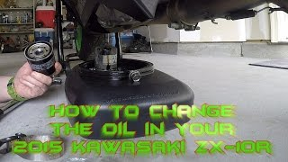 9. How To Change The Oil In Your 2015 Kawasaki ZX 10R