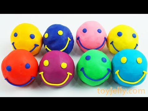 Play Doh Smiley Face Surprise Eggs PJ Masks Mickey Mouse Tools Baby Toys Kinder Joy Fun for Kids