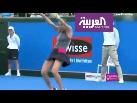 العرب اليوم - شاهد: لاعبة تنس عالمية ترقص بالمضرب