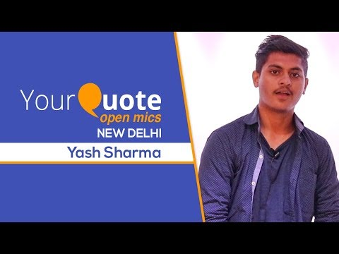 'Mujhe Chahti Ho Tum' By Yash Sharma | Hindi Poetry | YQ - New Delhi (Open Mic 9)