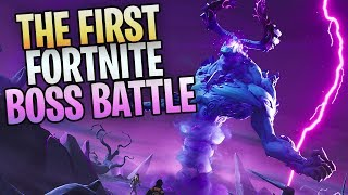 FORTNITE - New Save The World BOSS BATTLE! Killing The