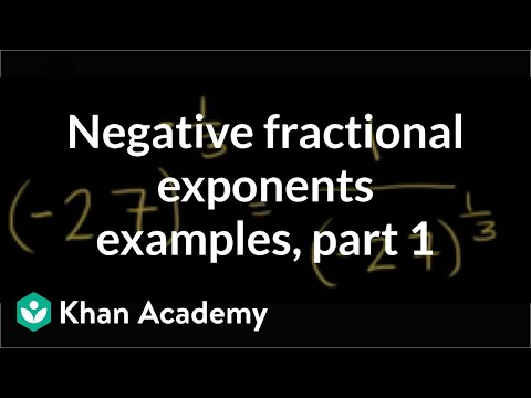 Evaluating fractional exponents: negative unit-fraction (video ...