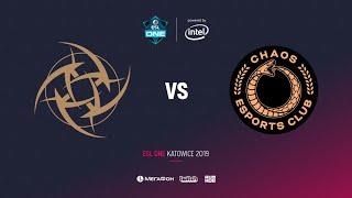 NiP vs Chaos Esports Club1, ESL One Katowice 2019, bo2, game 1, [Adekvat]