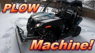 8. Can the CFMoto ZForce 500 Sport SxS PLOW SNOW? Using the Kolpin Switchblade Plow.