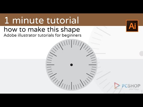 1 Minute Tutorial: Illustrator For Beginners (clock Shape)