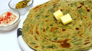 Methi Laccha Paratha(wheat)-Healthy Lunch Box Recipe for Indian Kids-Methi Ajwain Lachcha Parantha