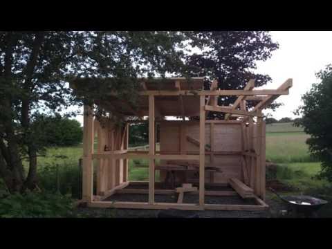 Gartenhaus bauen so kann es aussehen