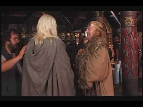dourif - A short couple of Lord Of The Rings: Two Towers interviews where Brad talks about his (fake) accent and spitting at Viggo :)