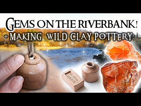 Hunting for Scottish gems & Making pottery with clay found by the river!