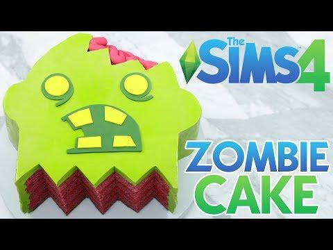 SIMS 4 ZOMBIE CAKE - NERDY NUMMIES (видео)