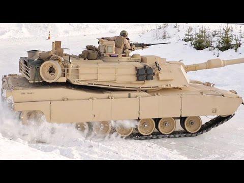 M1A1 Tanks Drifting in Snow