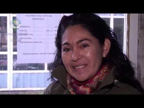 Tejido artesanal mapuche en la feria