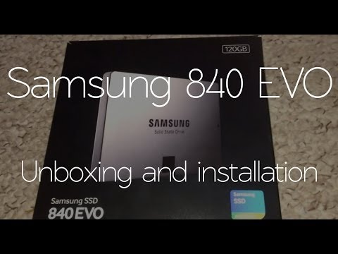 120gb - Hey guys and thanks for watching my unboxing and installation of my long awaited Samsung EVO 840 SSD! If you have any questions, please drop a comment ;) Mus...