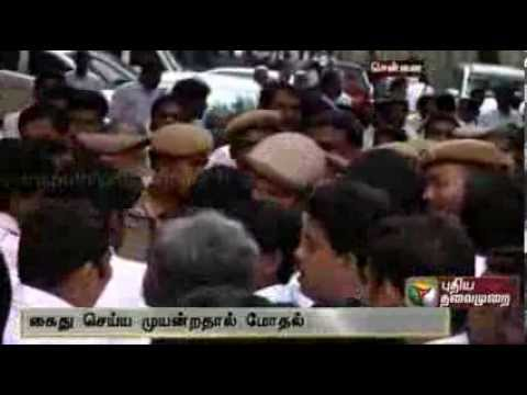 Clash between Lawyers and Police in Chennai Highcourt