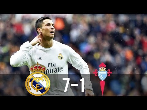 Real Madrid vs Celta Vigo 7-1 - All Goals & Extended Highlights - La Liga 05/03/2016 HD