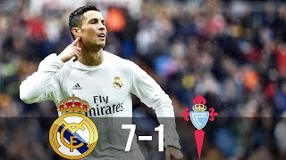 Video Real Madrid vs Celta Vigo 7-1 - All Goals & Extended Highlights - La Liga 05/03/2016 HD MP3, 3GP, MP4, WEBM, AVI, FLV Mei 2018