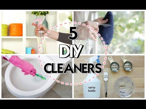 5 PRODOTTI FAI DA TE per LA PULIZIA! 5 DIY CLEANERS