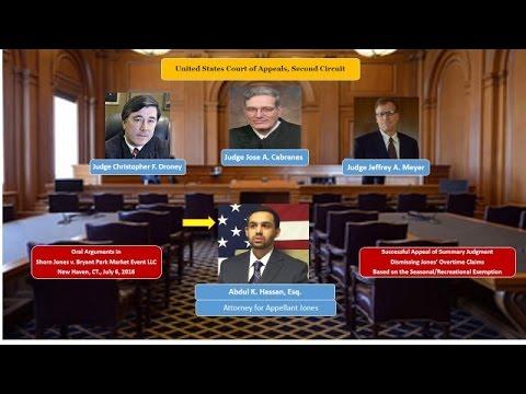 Second Circuit Court of Appeals - Oral Arguments in Jones v. Bryant Park Market Events