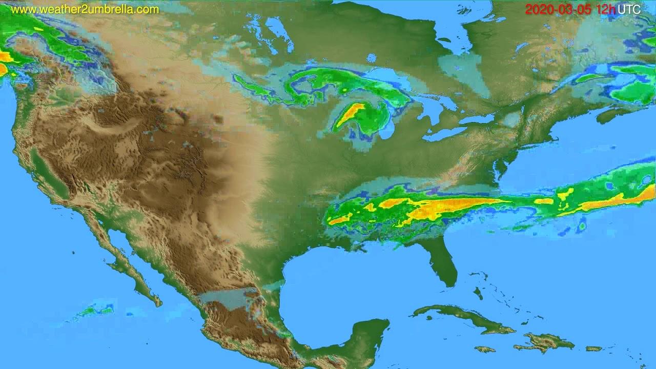 Radar forecast USA & Canada // modelrun: 00h UTC 2020-03-05