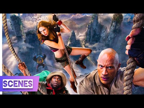 Jumanji: The Next Level (2019) -  Rope Bridge Chase Scene In Hindi (4/10)