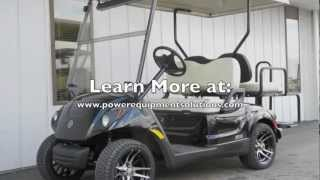 4. 2013 Yamaha DRIVE Street Ready PTV EFI Gas Golf Cart Black Onyx