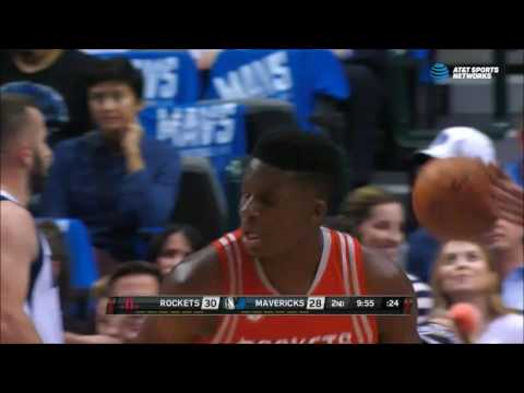 Tyler Ennis finds Clint Capela for the alleyoop