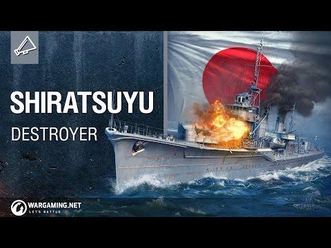 Shiratsuyu seen on random - World of Warships