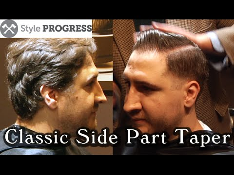 Vintage Hairstyle - Traditional Men's Taper Haircut With Side Part | Style Progress