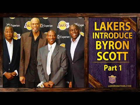 Scott - Magic Johnson, Kareem Abdul-Jabbar, Jamaal Wilkes introduce Byron Scott as the new Lakers head coach. Join the Largest Lakers Fan Site in the World http://LakersNation.com | Follow http://twitter....