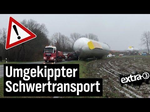 Umgekippter Schwertransport in Sögel | extra 3 | NDR