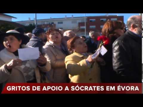 CENTENAS DE PESSOAS PARA APOIAR SÓCRATES EM ÉVORA