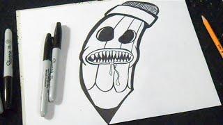 Cómo Dibujar Un Lápiz Graffiti. Most Watched Zä Os