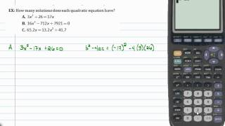 Intermediate Algebra - Quadratic Formula (Part D)