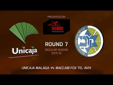 Highlights: RS Round 7, Unicaja Malaga 82-68 Maccabi FOX Tel Aviv