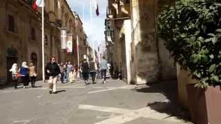 Valletta Malta  city photo : MALTA Valletta Main Street [HD] 2014 (Republic street)