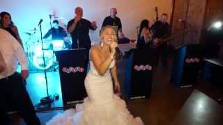 Video The bride sings Don't Stop Believing at her own wedding. by Just Joey Productions MP3, 3GP, MP4, WEBM, AVI, FLV Agustus 2018