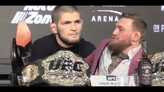 Video Khabib Nurmagomedov Smacks Down Journalist After Muslim Salutation  (UFC 229) MP3, 3GP, MP4, WEBM, AVI, FLV Juni 2019