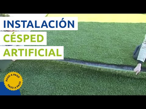C mo instalar c sped artificial manual en video - Como instalar cesped artificial sobre tierra ...