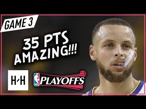Stephen Curry EPIC Full Game 3 Highlights Rockets vs Warriors 2018 NBA Playoffs WCF - 35 Pts! (видео)