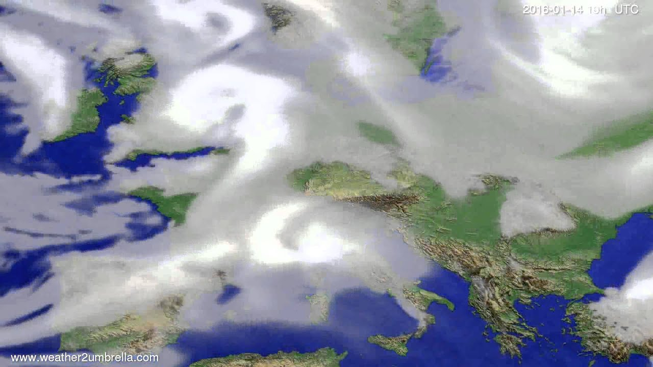 Cloud forecast Europe 2016-01-12