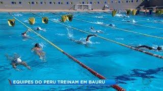Seleções de polo aquatico do Peru treinam em Bauru