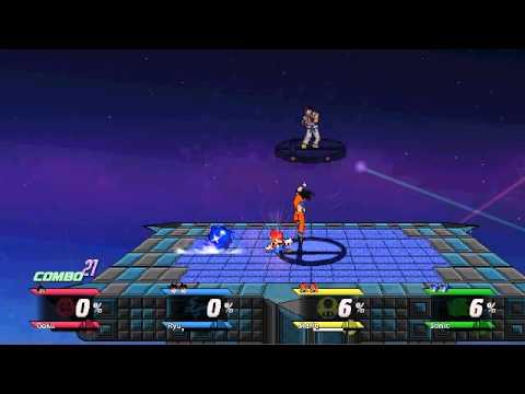 Goku vs Ryu vs Mario vs Sonic - SSBC