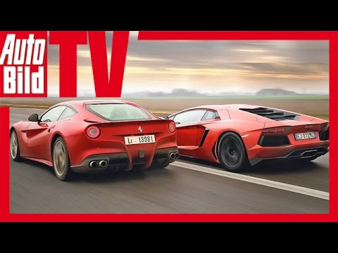 Ferrari F12 Berlinetta Vs Lamborghini Aventador Top Gear  photos