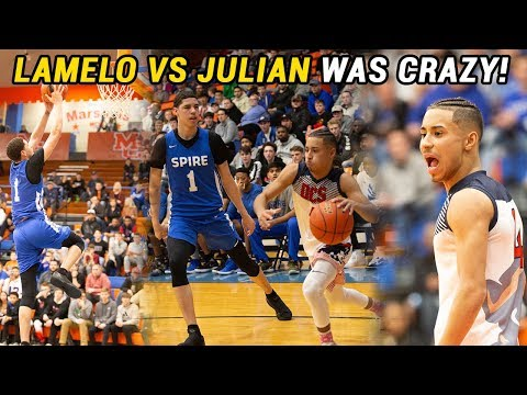LaMelo Ball vs Julian Newman Got CRAZY!!! LaMelo Gets TRIPLE DOUBLE In BIG DUB